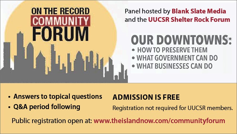 on the record Community Forum - Our Downtowns